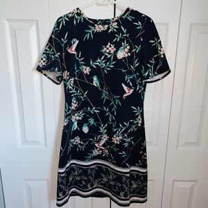 New York & Company Navy Nature Dress